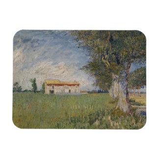 Farmhouse in a wheat field Premium Magnet