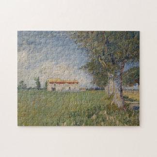Farmhouse in a wheat field Puzzle