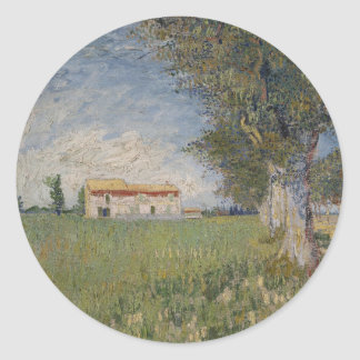 Farmhouse in a wheat field Sticker