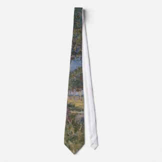 Farmhouse in a Wheat Field, Vincent Van Gogh Neck Tie