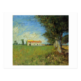 Farmhouse in a Wheat Field Vincent van Gogh Postcards