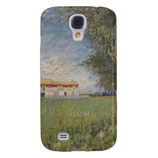 Farmhouse in a wheat galaxy s4 cover