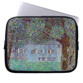 Farmhouse in Austria by Klimt, Victorian Fine Art Computer Sleeve