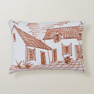 Farmhouse in Belle, France Accent Pillow