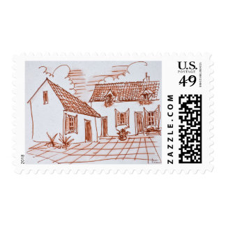 Farmhouse in Belle, France Postage