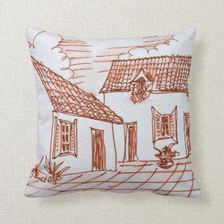 Farmhouse in Belle, France Throw Pillow