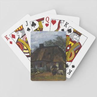 Farmhouse in Nuenen by Vincent Van Gogh Poker Deck