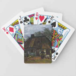 Farmhouse in Nuenen by Vincent Van Gogh Bicycle Playing Cards