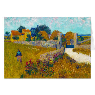Farmhouse in Provence by Vincent Van Gogh Card