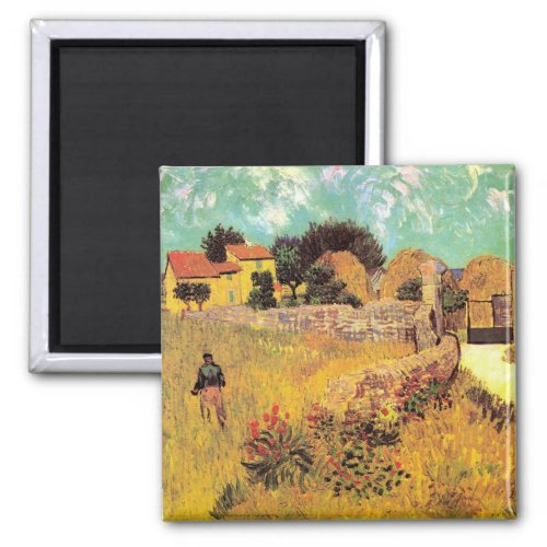 Farmhouse in Provence by Vincent van Gogh Magnet