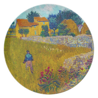 Farmhouse in Provence by Vincent Van Gogh Plate
