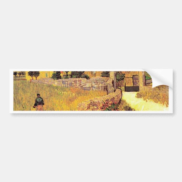 Farmhouse in Provence by Vincent van Gogh van Gogh Bumper Sticker