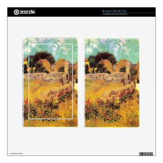 Farmhouse in Provence by Vincent van Gogh van Gogh Skins For Kindle Fire