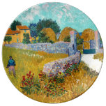 Farmhouse in Provence (F454) Van Gogh Fine Art Porcelain Plate