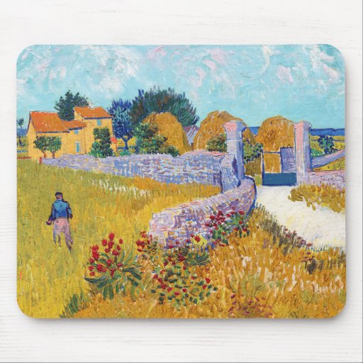Farmhouse in Provence, Van Gogh Mouse Pad