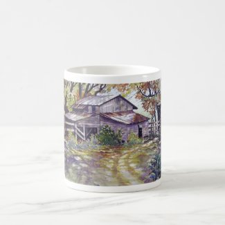 Farmhouse in the woods- mug mug