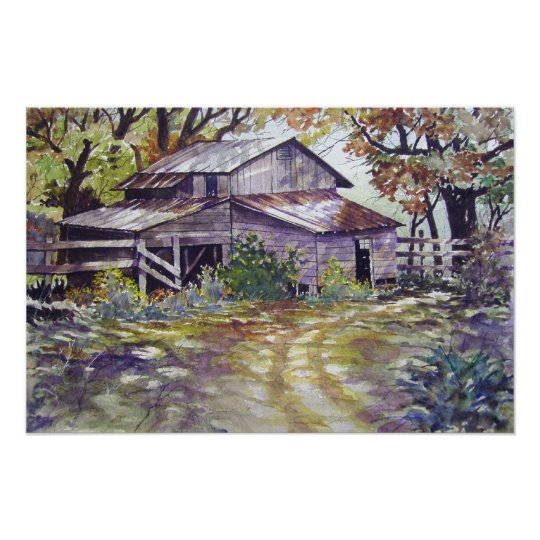 Farmhouse in the woods- poster