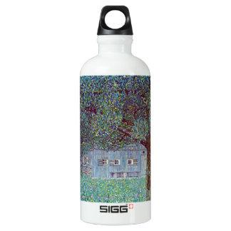 Farmhouse in Upper Austria by Gustav Klimt Aluminum Water Bottle