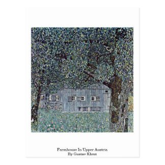 Farmhouse In Upper Austria By Gustav Klimt Postcard