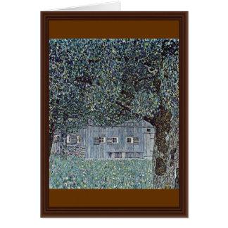 Farmhouse In Upper Austria By Klimt Gustav Greeting Card