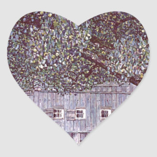 Farmhouse in Upper Austria cool Heart Sticker