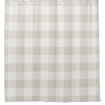 Farmhouse Linen Buffalo Check Shower Curtain