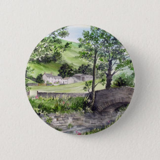 Farmhouse near Thirlmere, Lake District, England Pinback Button