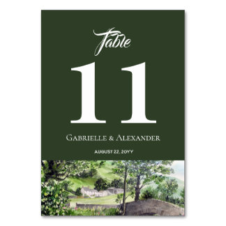 Farmhouse near Thirlmere Wedding Table Number