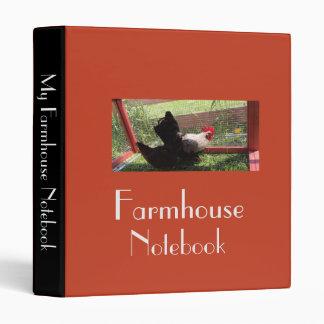 Farmhouse Notebook 3 Ring Binder
