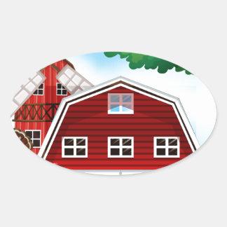 Farmhouse Oval Sticker