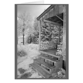 Farmhouse porch in rural New Hampshire Greeting Card