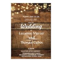 Farmhouse Rustic Compass Rose Wedding Invitation