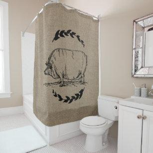 Burlap Rustic Bathroom Accessories Zazzle, Burlap Bathroom Decor