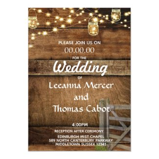 Farmhouse Rustic Wood Gate Wedding Invitation