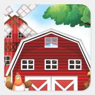 Farmhouse Square Sticker