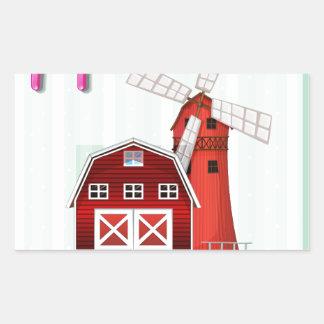 Farmhouse Rectangular Sticker