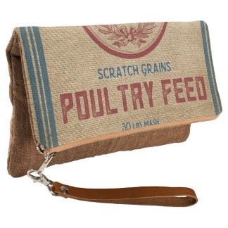 Farmhouse style Grain Feed Sack Reproduction Clutch