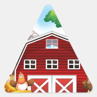 Farmhouse Triangle Sticker