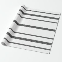 Farmhouse White Black Stripes Gift Wrap