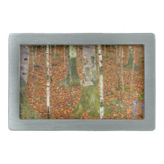 Farmhouse with Birch Trees Belt Buckle