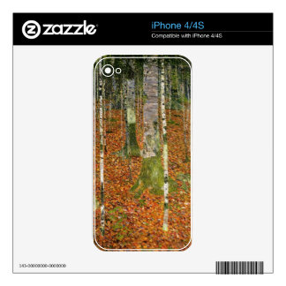 Farmhouse with Birch Trees iPhone 4S Skin