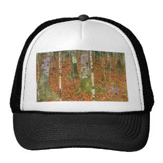 Farmhouse with Birch Trees Trucker Hat