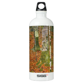Farmhouse with Birch Trees Water Bottle