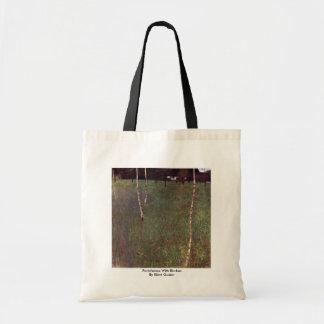 Farmhouse With Birches By Klimt Gustav Bags