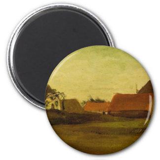 Farmhouses in Loosduinen near The Hague... 2 Inch Round Magnet