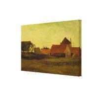 Farmhouses in Loosduinen near The Hague at Twiligh Gallery Wrap Canvas