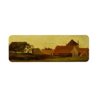 Farmhouses in Loosduinen near The Hague... Custom Return Address Label