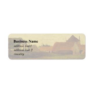 Farmhouses in Loosduinen near The Hague... Custom Return Address Labels