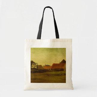 Farmhouses in Loosduinen near The Hague... Tote Bag