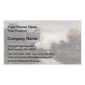 Farmhouses On The Waterfront by Johan Weissenbruch Double-Sided Standard Business Cards (Pack Of 100)